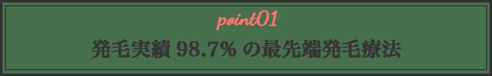 発毛実績98.7%の最先端発毛療法