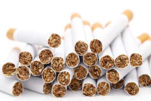 大量のタバコ
